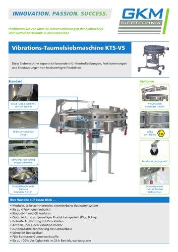 Vibrations-Taumelsiebmaschine KTS-VS