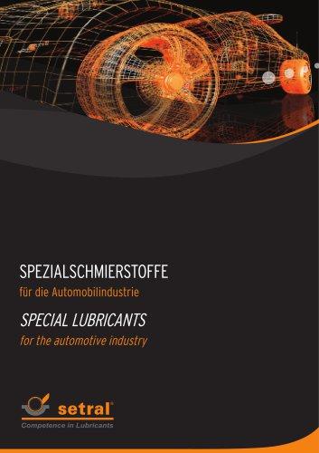 Spezialschmierstoffe für die Automobilindustrie
