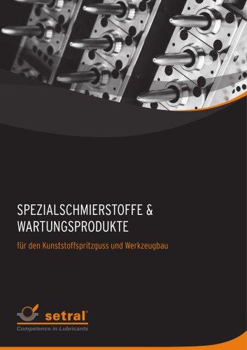 Spezialschmierstoffe und Wartungsprodukte für den Kunststoffspritzguss, Werkzeugbau, Formenbau