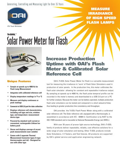 TriSOLSolar Power Meter for Flash