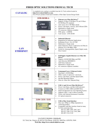 Fiber Optic Solutions from S.I. Tech