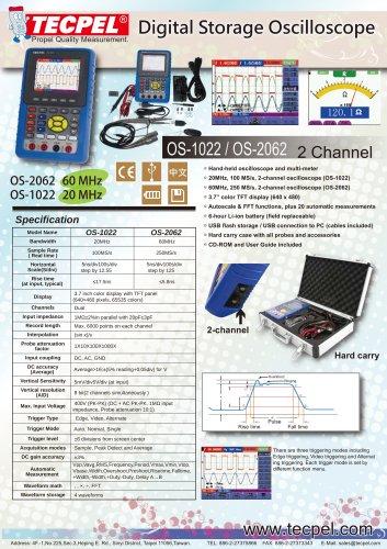 60MHz/ 20MHz Handheld Oscilloscope