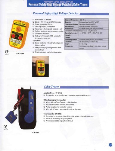 Personal Safety Hight Voltage Detector / Cable Tracer