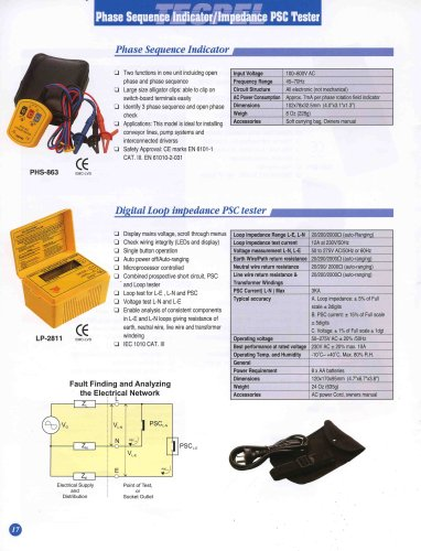 Phase Sequence Indicator/Impedance PSC Tester