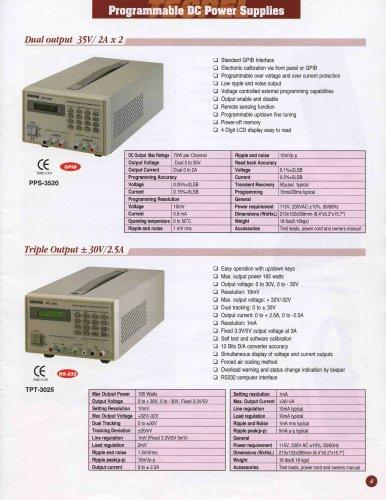 Programmable DC Linear Power Supplies