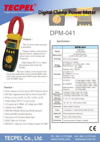 TECPEL AC Power clamp meter 1000A, 3ψ4W, 3ψ3W, 1ψ2W, 1ψ3W