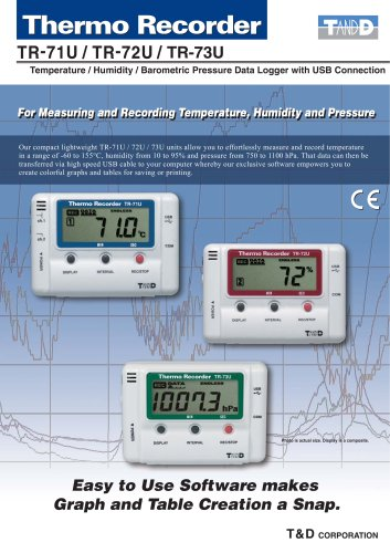 Temp/Humidity/Barometric pressure data logger with USB connection