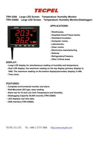 Temperature Humidity data logger LED large panel display