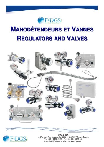 regulator and valves / manodétendeurs et vannes