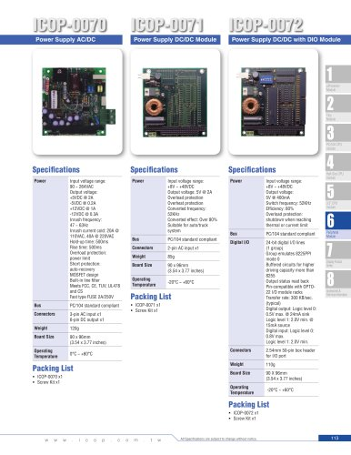ICOP-0070  PC/104 Power Supply