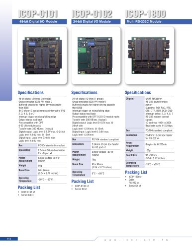 ICOP-1800 PC/104 RS-232