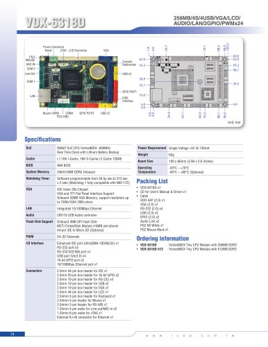 VDX-6318D (800MHz) Tiny Module