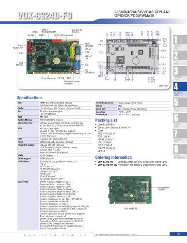 VDX-6324D-FD (800MHz) Half-Size SBC