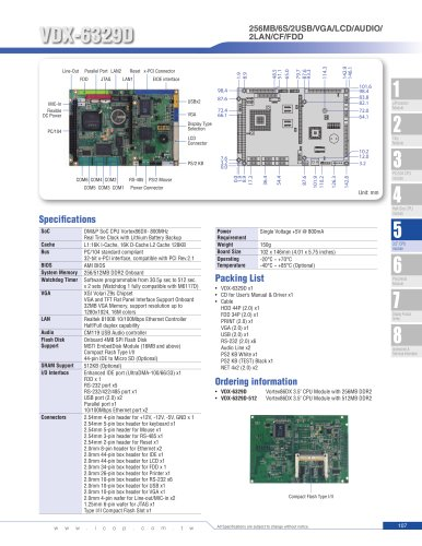 """VDX-6329D (800MHz) 3.5"""" Embedded Module"""