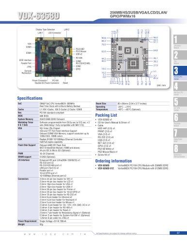 VDX-6358D (800MHz) PC/104 Module