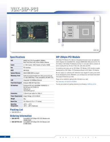 VDX-DIP-PCID (800MHz)
