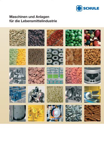 Maschinen und Anlagen für die Lebensmittelindustrie (Getreide, Hülsenfrüchte, Tee, Proteinverschiebung, Gewürze, Ölsaaten)