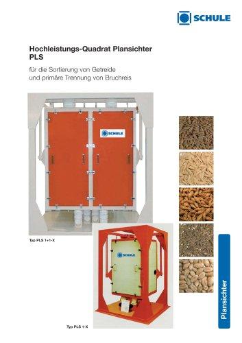 Sortiermaschinen: Hochleistungs-Quadrat Plansichter PLS