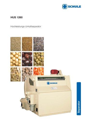 Sortiermaschinen: Hochleistungs-Umluftseparator HUS 1260