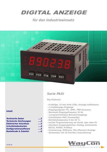 Anzeige PAXI für inkrementale Signale