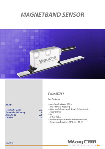 Digitale Magnetband Sensoren MXI51