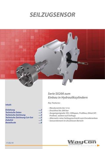 Hydraulik Seilzugaufnehmer SX200
