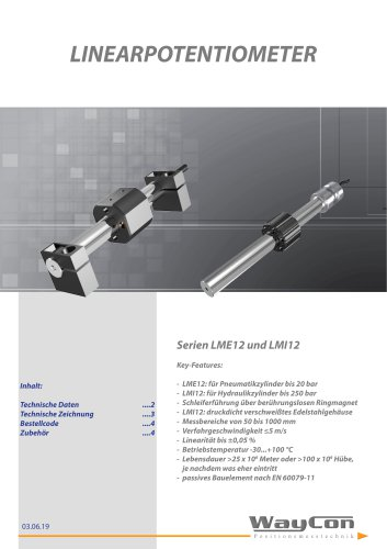 Linearpotentiometer LMI/LMI12/LME