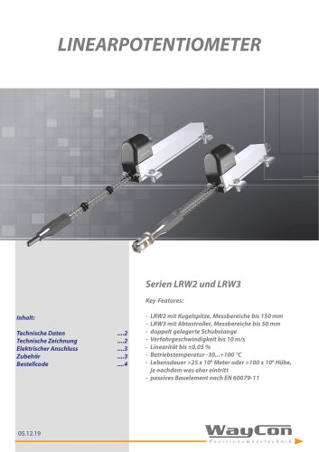 Linearpotentiometer LRW2, LRW3