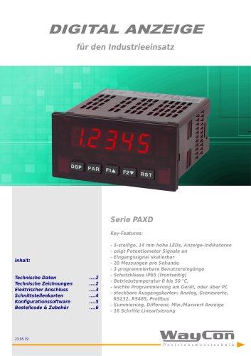 Positionsanzeige PAXD Potentiometer