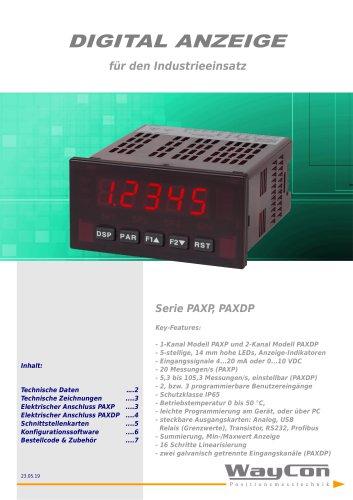 Positionsanzeige PAXDP für Analogsignale