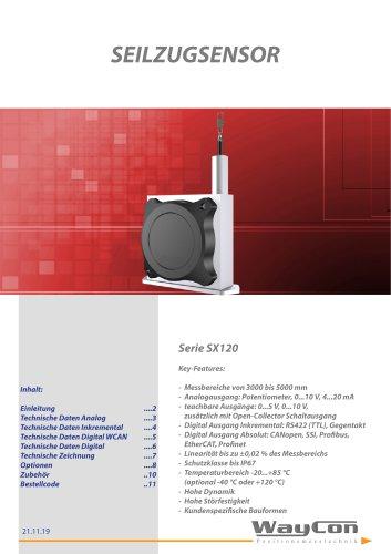 Seilzugsensor SX120