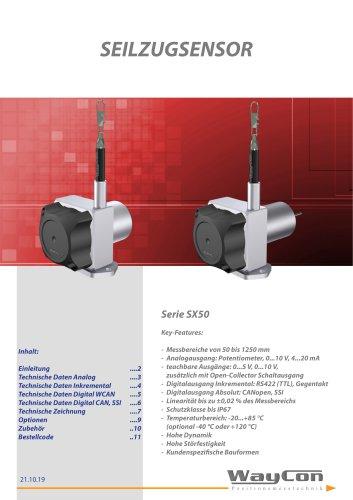 Seilzugsensor SX50