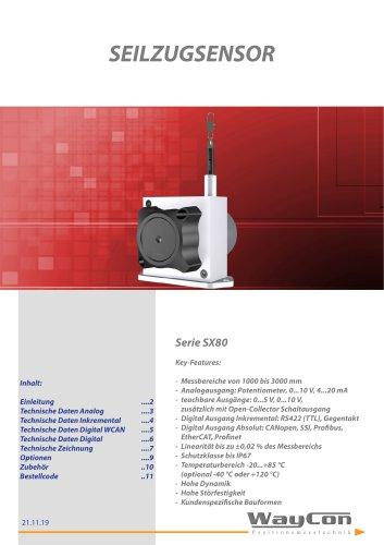 Seilzugsensor SX80