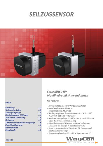 Seilzugsensoren MH60