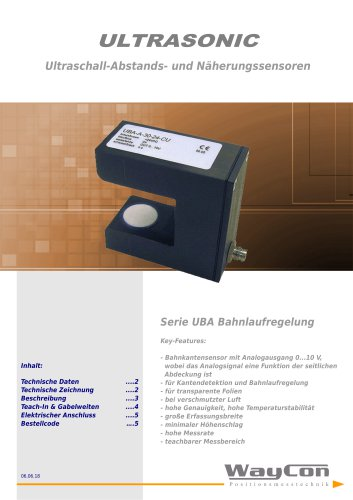Ultraschallsensoren UBA-Gabelsensor