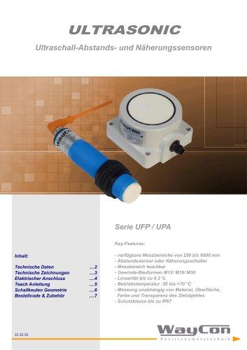 Ultraschallsensoren UFP, UPA