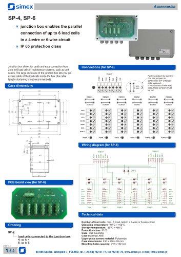 Junction boxes SP-4, SP-6 datasheet