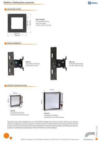 MultiCon / MultiLog line accessories brochure