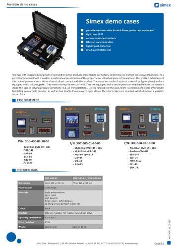 SIMEX demo cases - portable demonstration kit