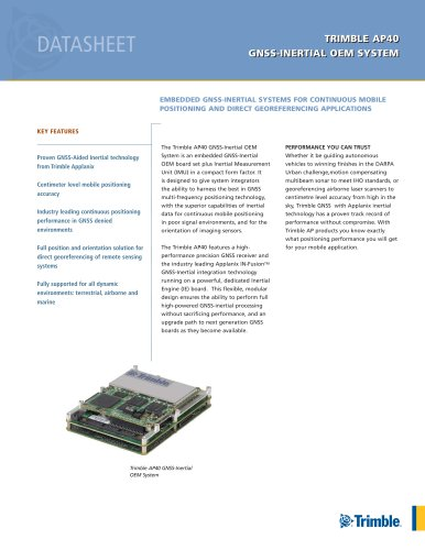 TRIMBLE AP40 GNSS-INERTIAL OEM SYSTEM