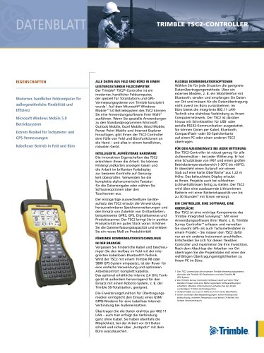 TSC2 Datasheet - German