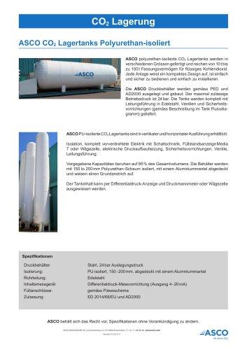 Polyurethanisolierter CO2 Lagertank