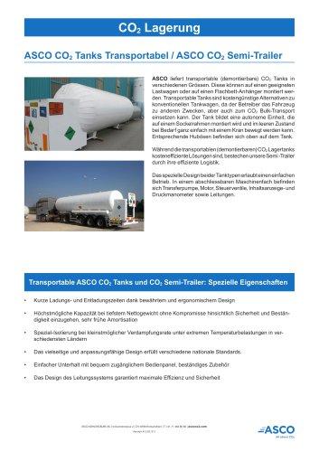Transportabler CO2 Tank