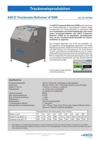 Trockeneis Refoermer A700R