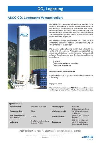 Vakuumisolierter CO2 und kryogener Lagertank