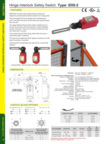IDIS-2: Hinge Interlock Safety Switch