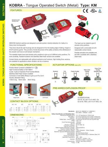 KM: Interlock Tongue Safety Switch