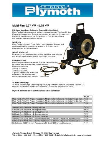 Mobi-Fan 0.37 kW ? 0.75 kW