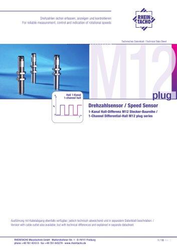 Sensor: 1-Kanal Hall-Differenz M12-Stecker Baureihe