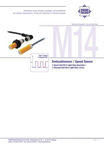 Sensor: 1-Kanal Hall M14 LD Baureihe